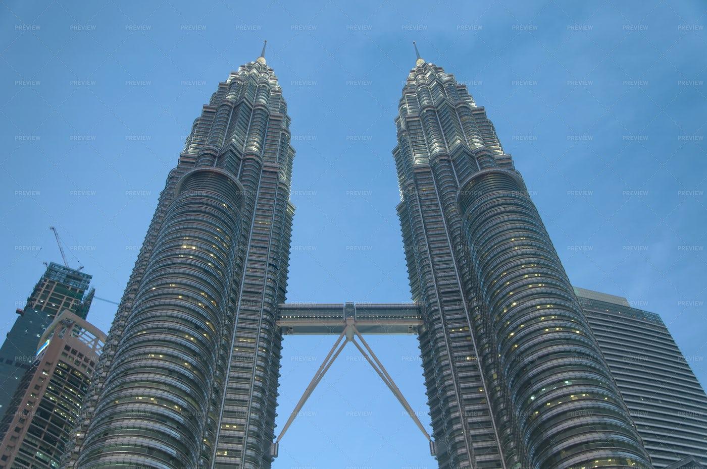Petronas Towers Night View Malaysia: Stock Photos