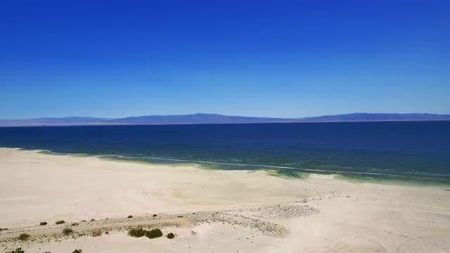 Aerial View Of Salton Beaches : Stock Video