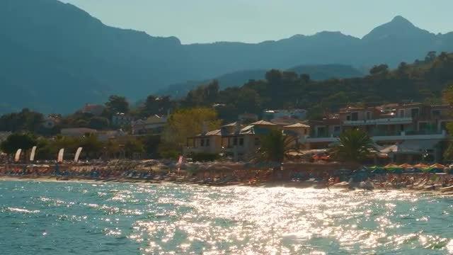 Establishing Shot Of Mediterranean Beach: Stock Video