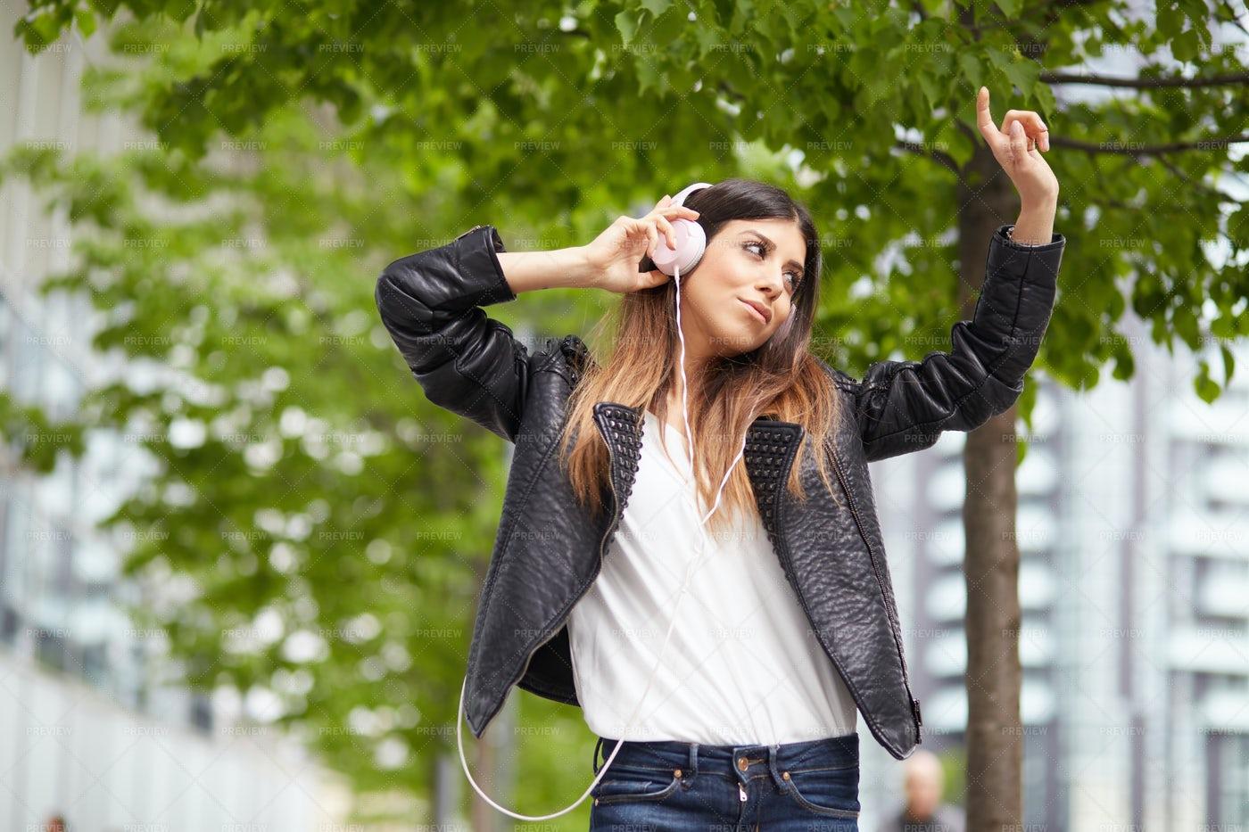 Enjoying Music: Stock Photos