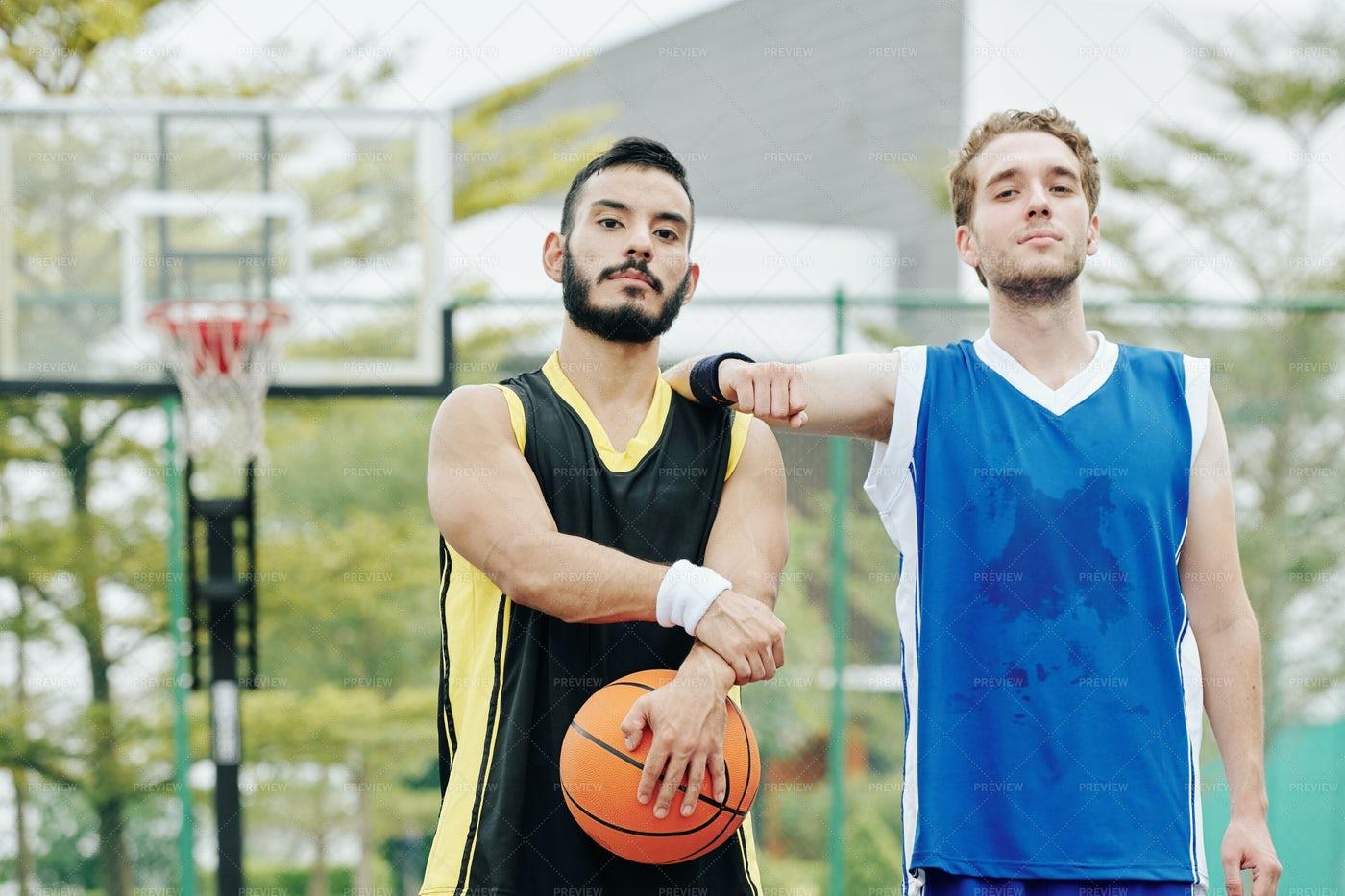 Sweaty Basketball Players: Stock Photos