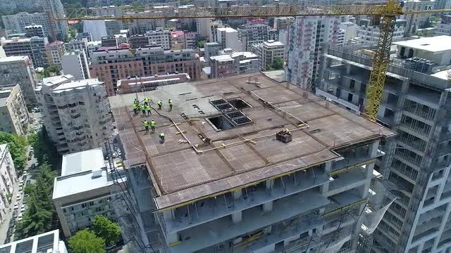 Building Construction Workers: Stock Video