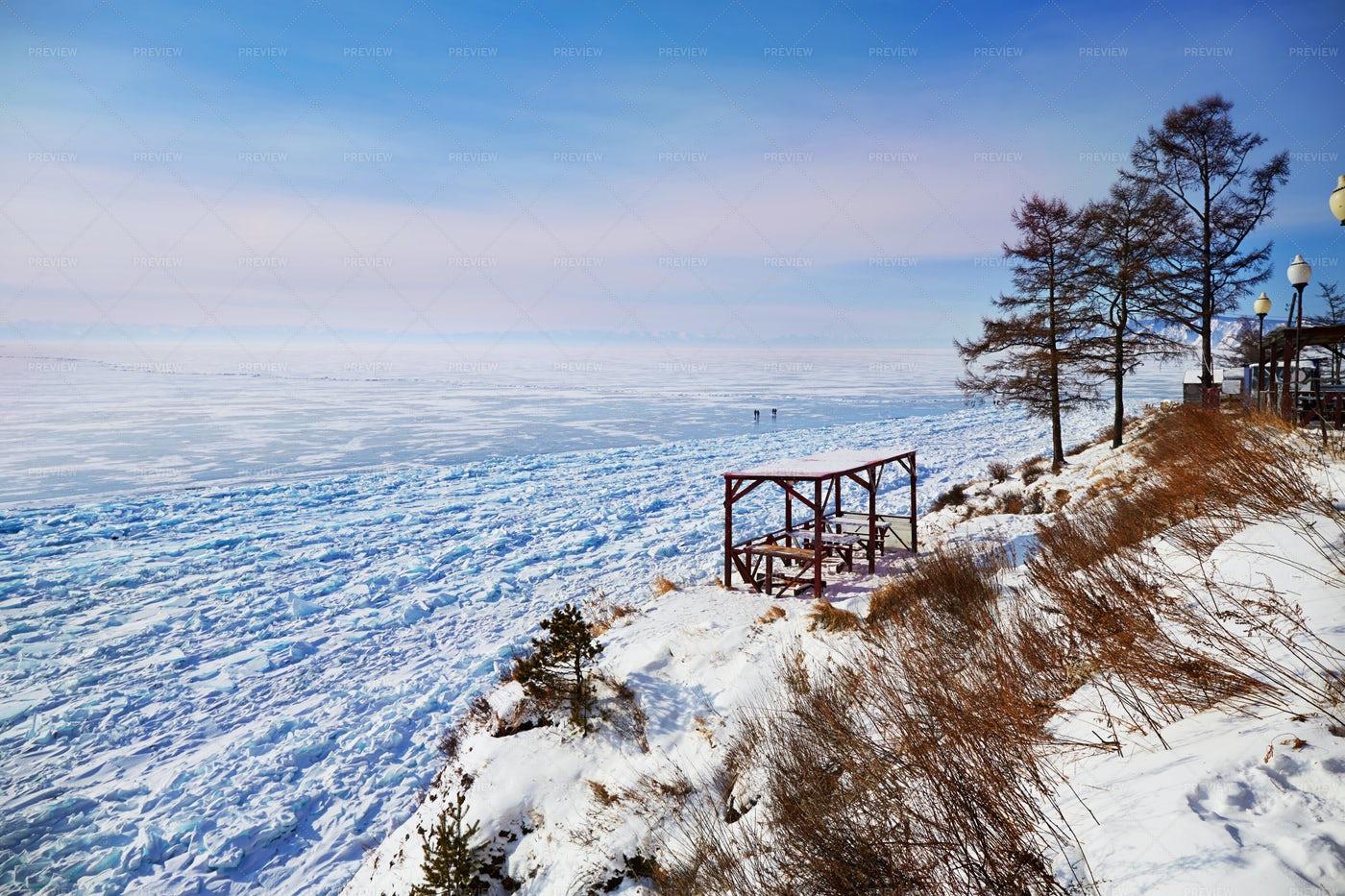 Frozen Lake Landscape: Stock Photos