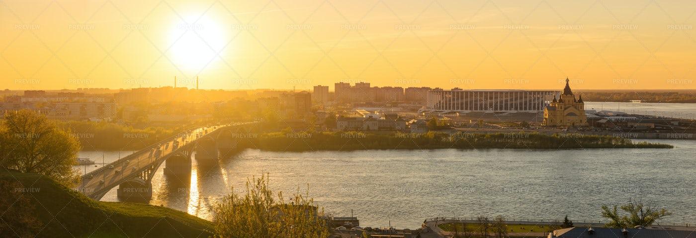 Panorama Of Nizhny Novgorod City: Stock Photos