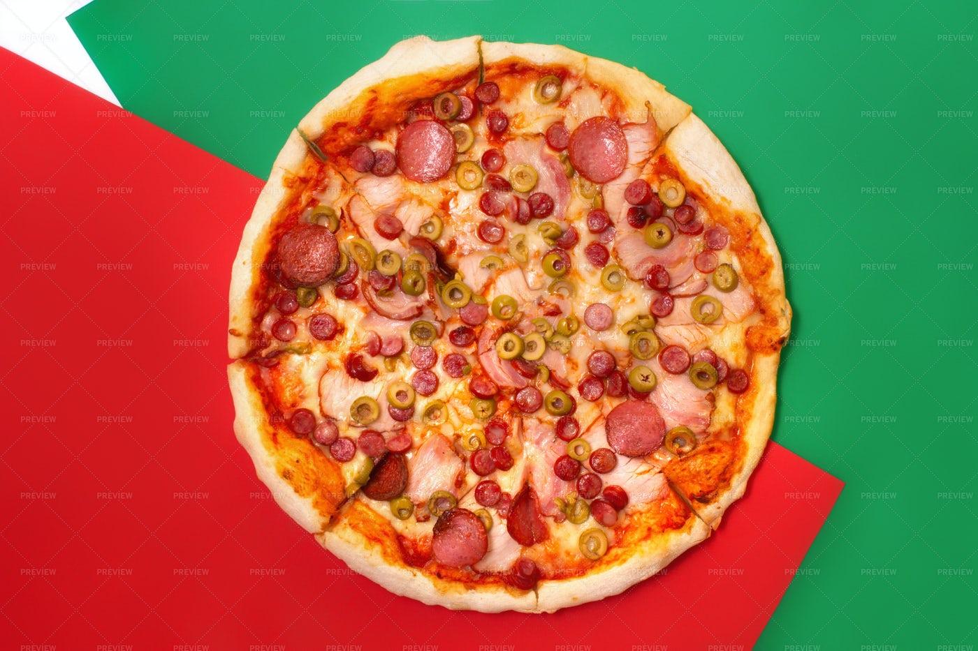 Top Pizza View: Stock Photos