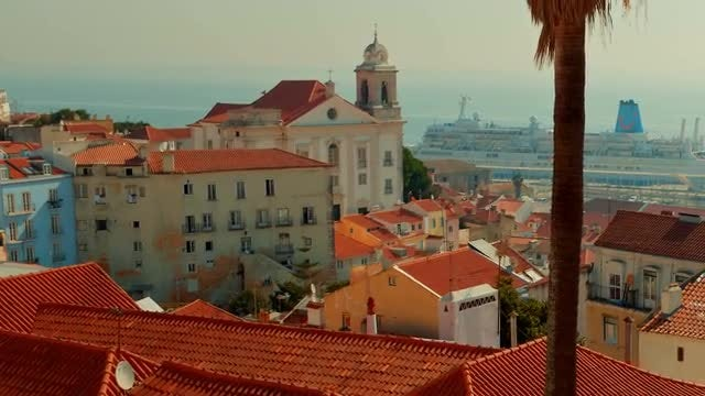 The Roofs Of Alfama District, Lisbon: Stock Video