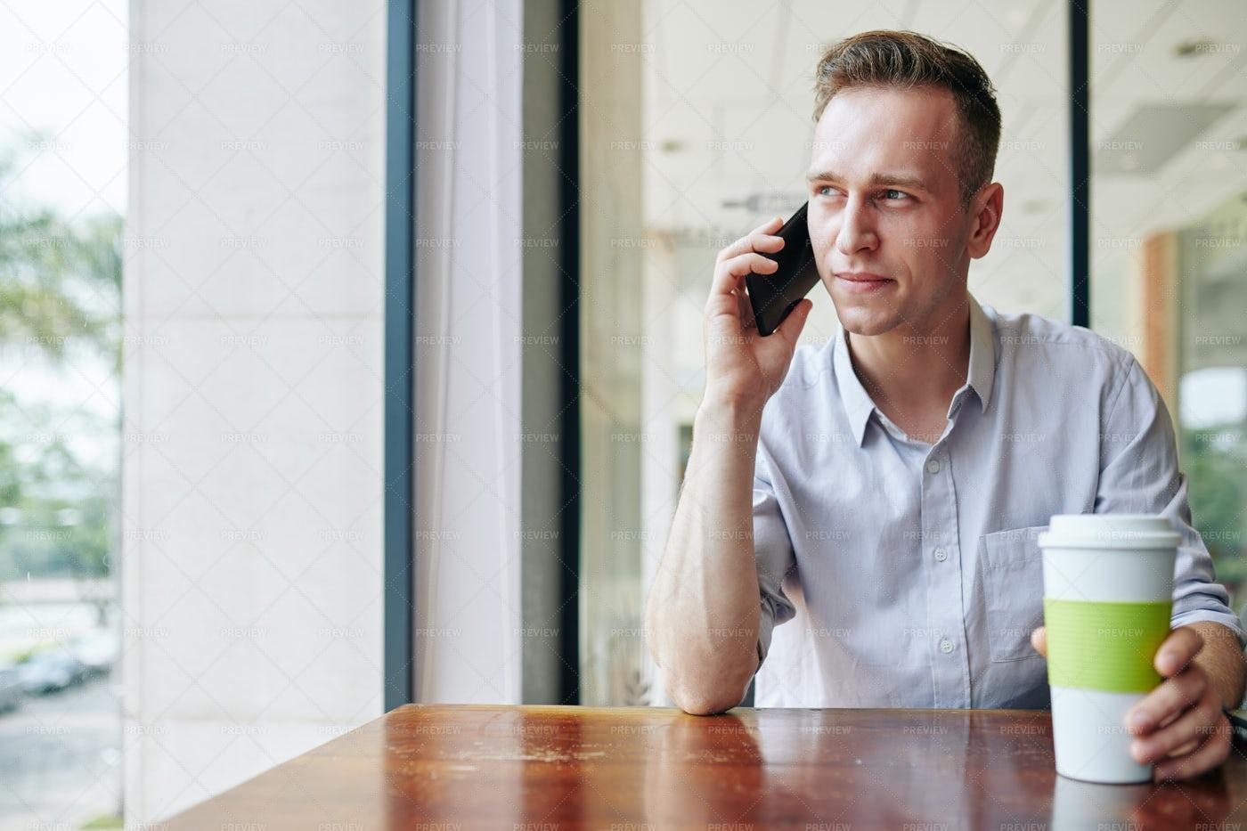 Young Man Talking On Phone: Stock Photos