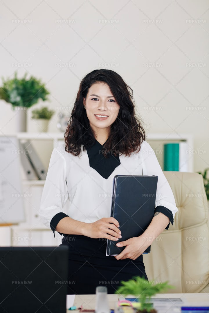 Smiling Successful Business Lady: Stock Photos