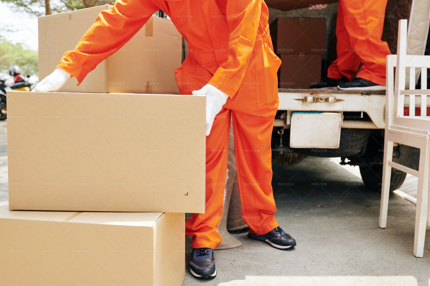 Professional Delivery Service: Stock Photos