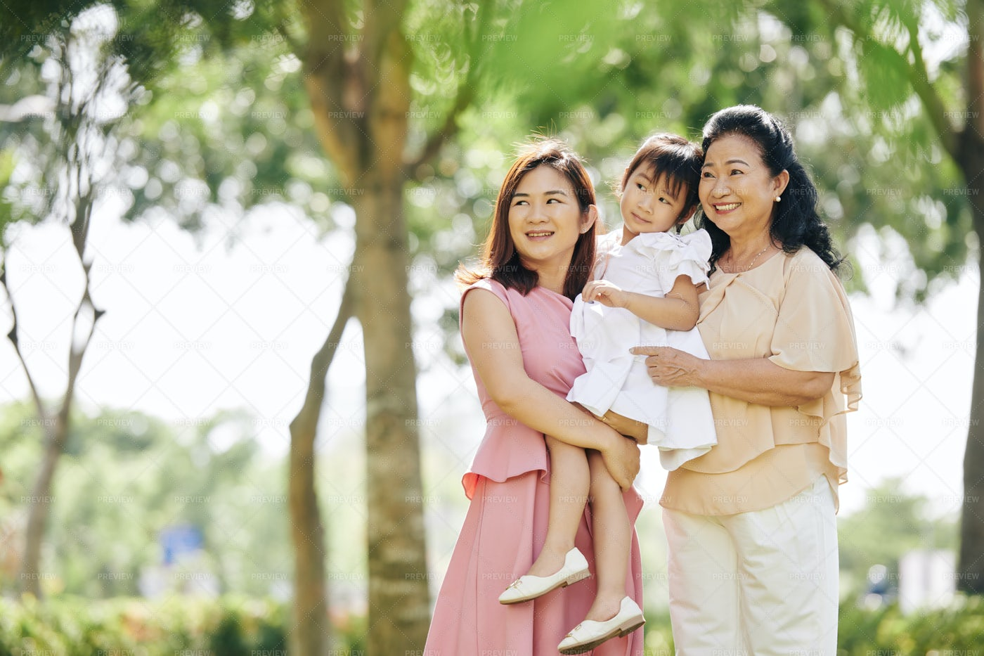 Three Generations Of Women: Stock Photos