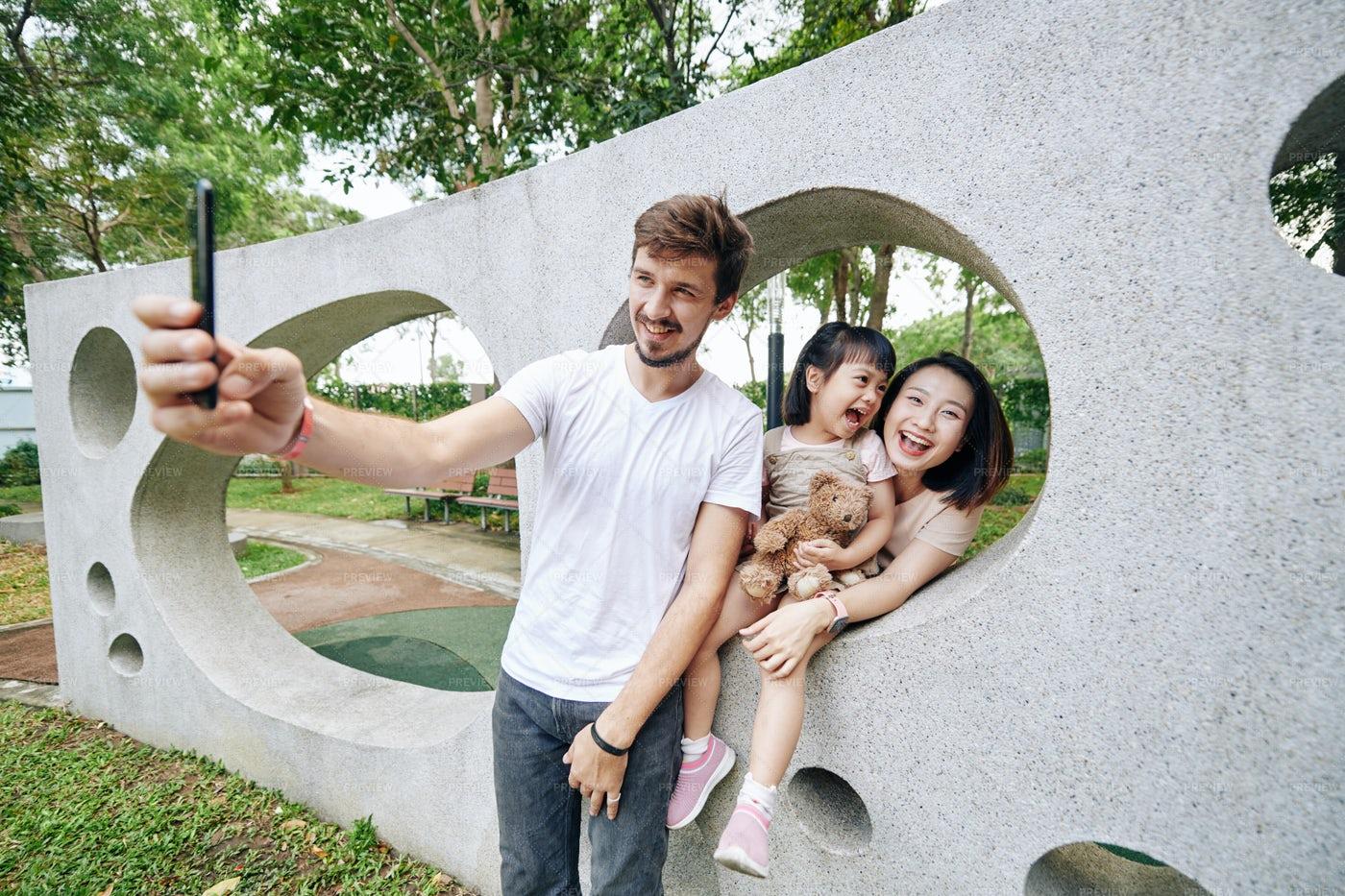 Selfie With Family: Stock Photos