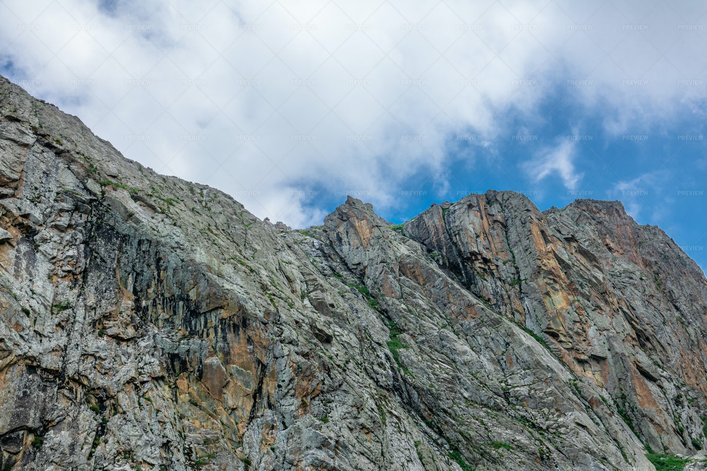 Large Cliffs In The Mountains: Stock Photos