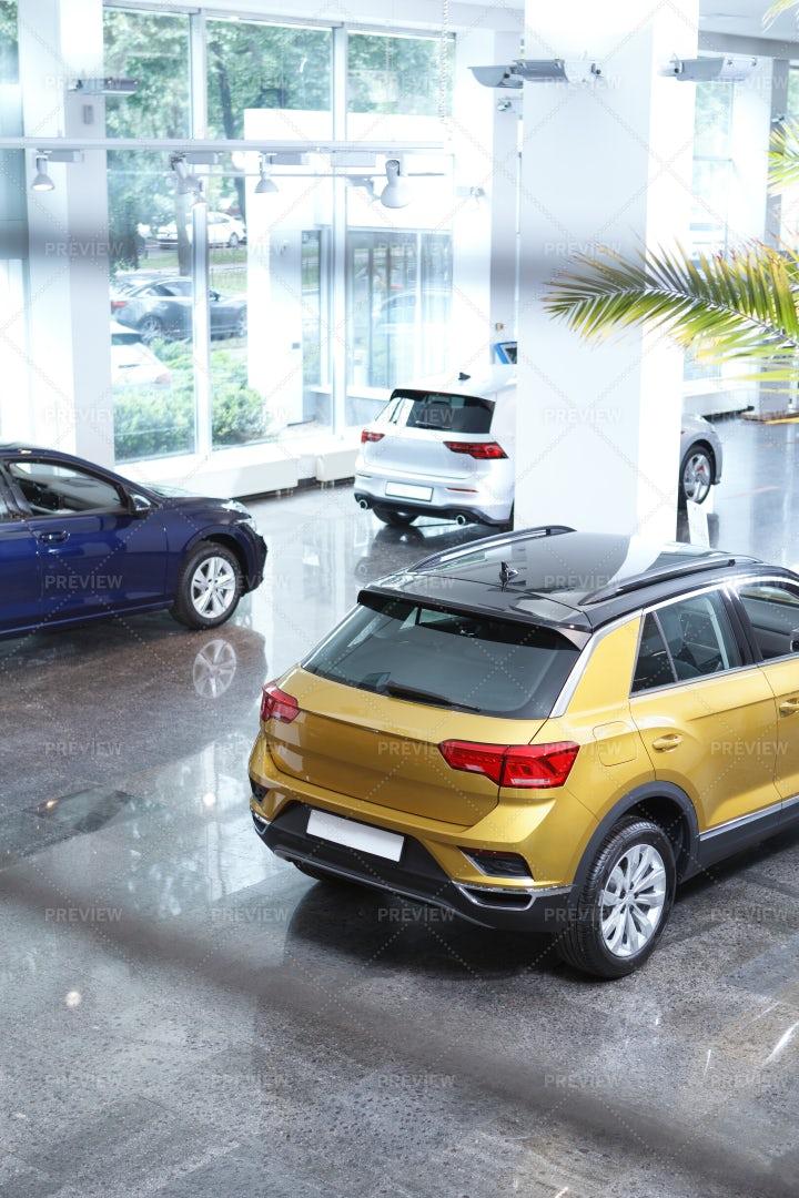 Cars For Sale At Salon: Stock Photos