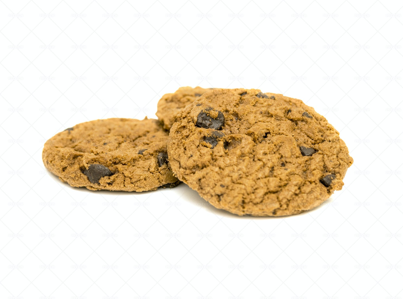Homemade Cookies Isolated On White: Stock Photos