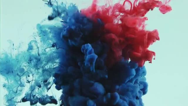 Red And Blue Water Mix: Stock Video