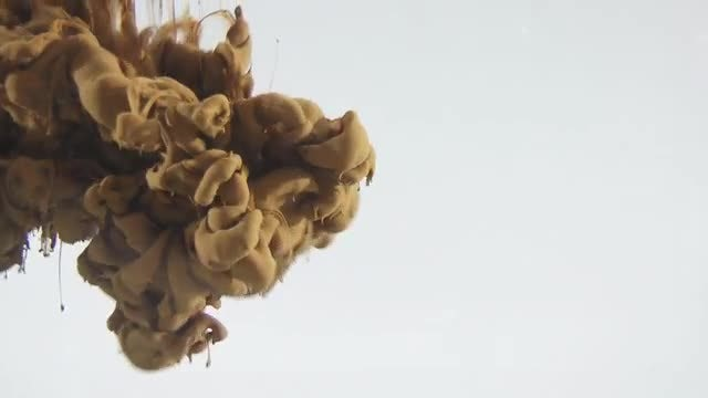 Soil-Colored Ink Drop : Stock Video