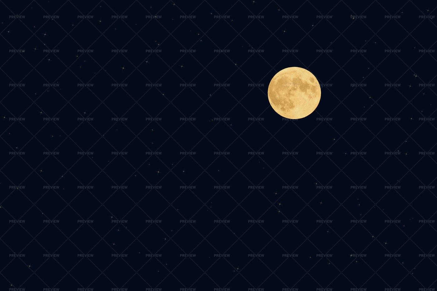 Full Moon At Night: Stock Photos