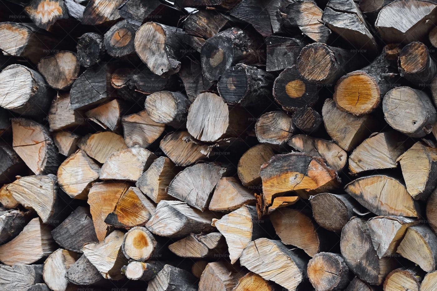 Pile Of Firewoods: Stock Photos