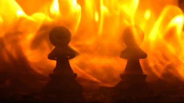 Fiery Chess: Stock Video