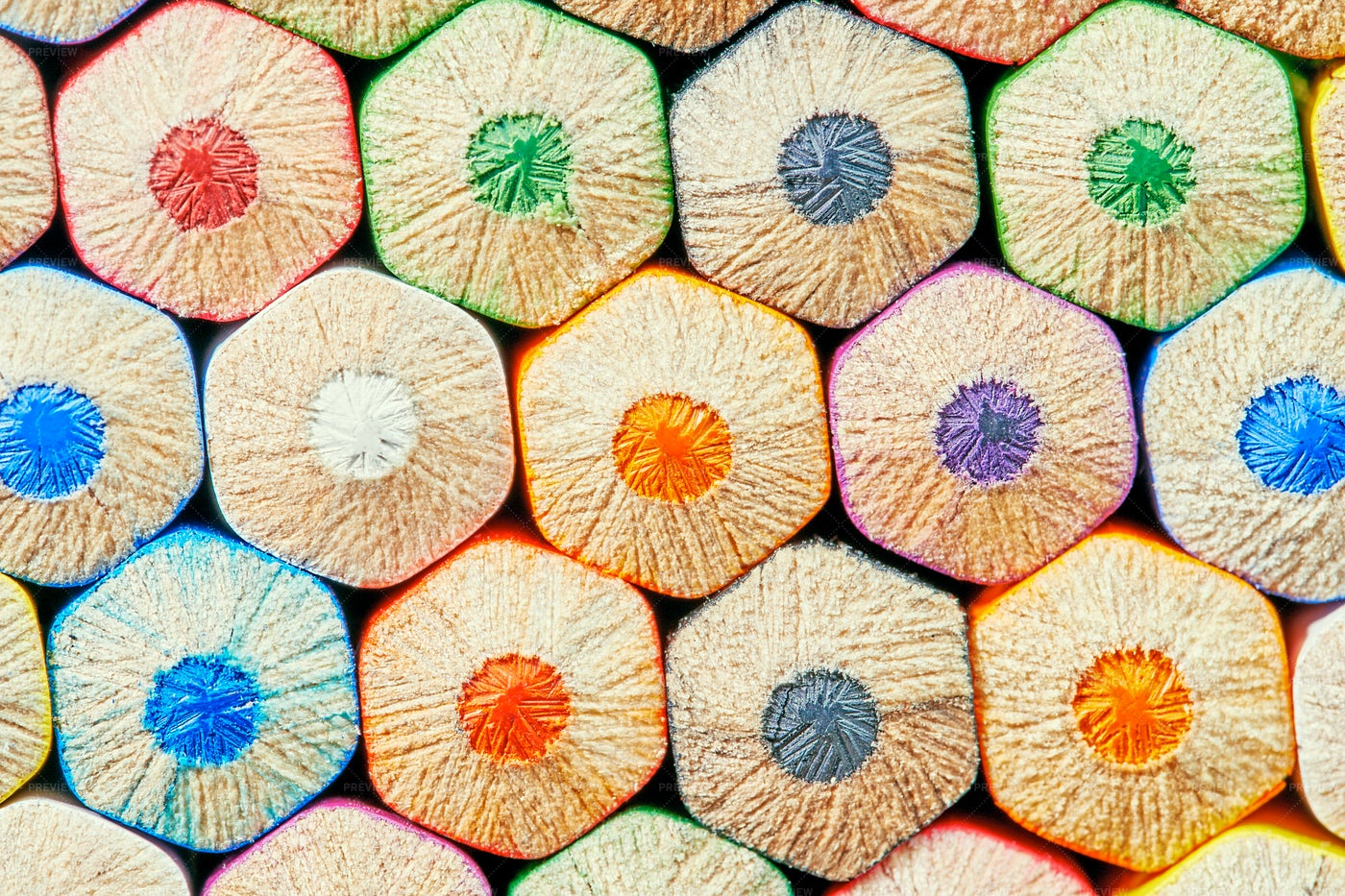 Colorful Crayons Background: Stock Photos