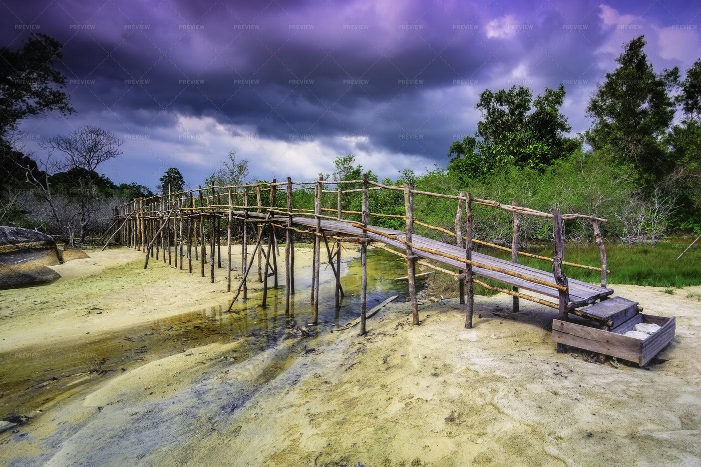 Old Wooden Bridge: Stock Photos