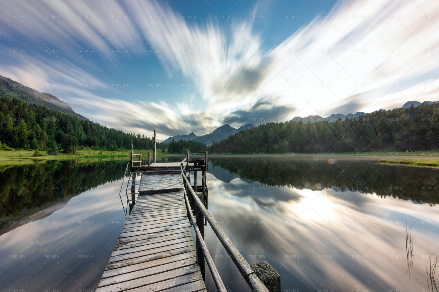 Staz Lake Near Sankt Moritz: Stock Photos