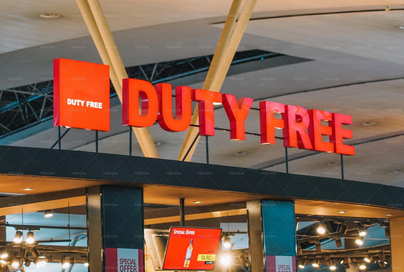 Duty Free In Airport: Stock Photos