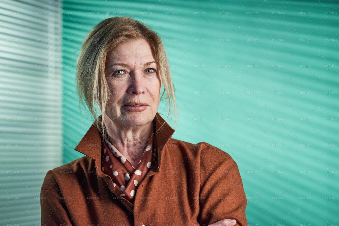 Senior Businesswoman Portrait: Stock Photos