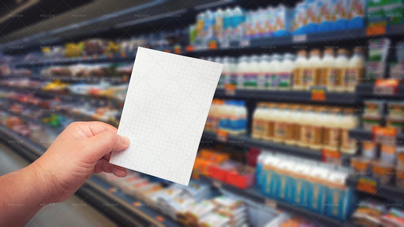Blank Shopping List: Stock Photos