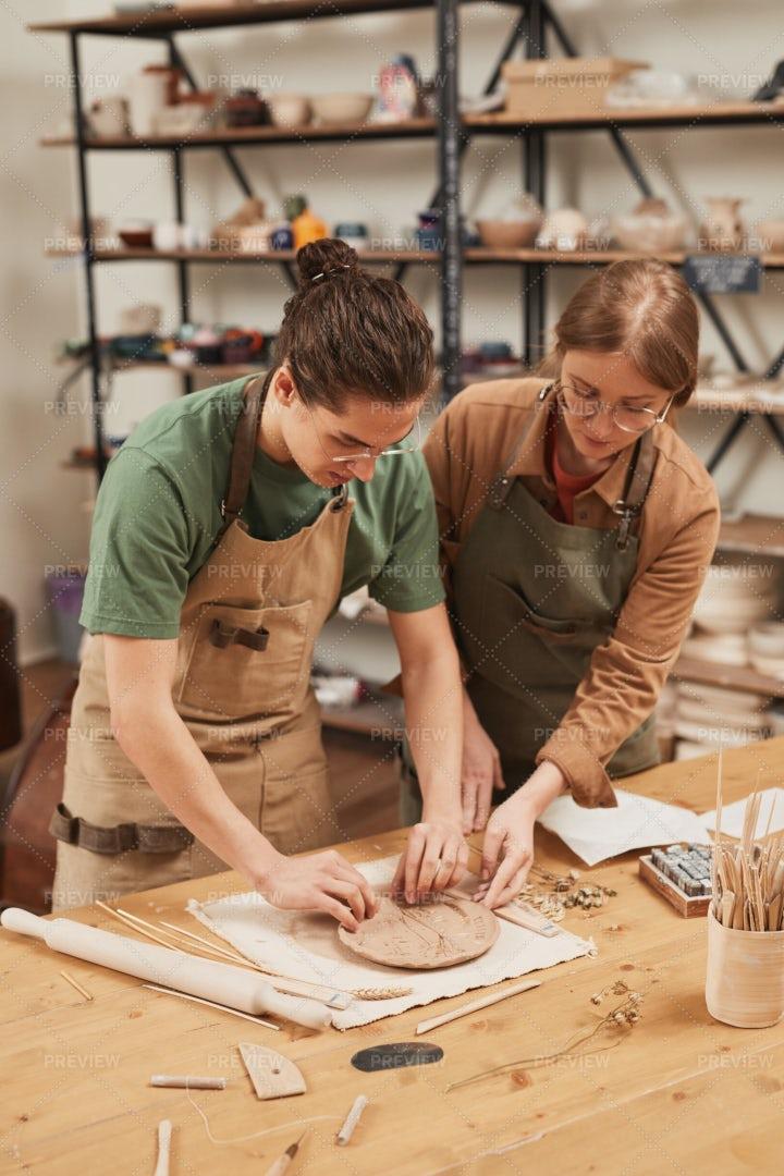 Artisans Making Ceramics: Stock Photos