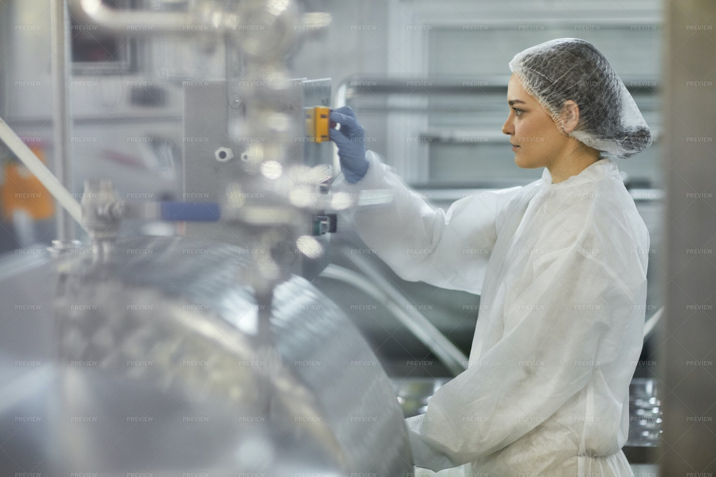 Working At Factory Plant: Stock Photos