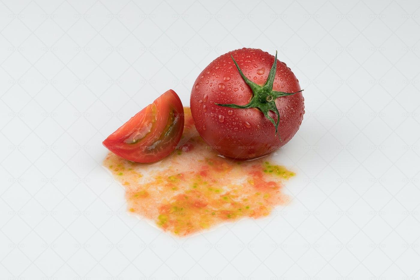 Tomatoes On White: Stock Photos