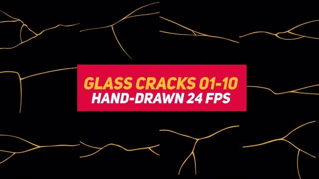 Liquid Elements 3 Glass Cracks 01-10: Stock Motion Graphics
