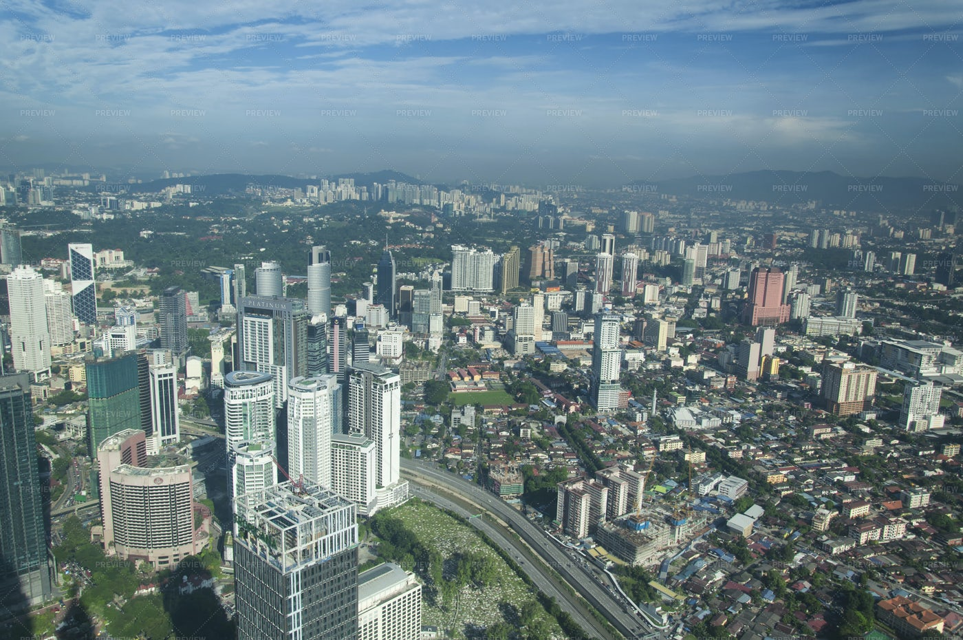 Kuala Lumpur Modern City Skyline: Stock Photos
