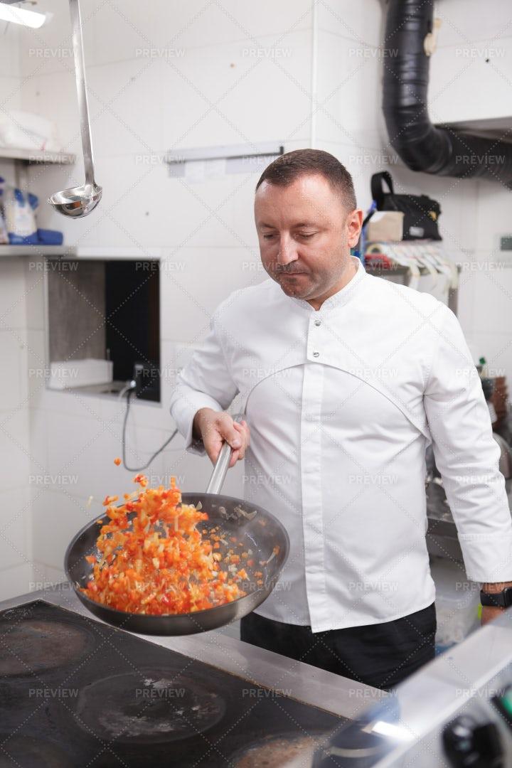 Chef Preparing Vegetables: Stock Photos