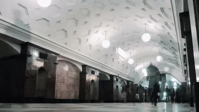 People At The Metro Walking: Stock Video