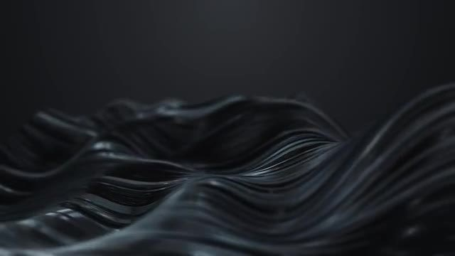 Abstract Black Waves: Stock Motion Graphics