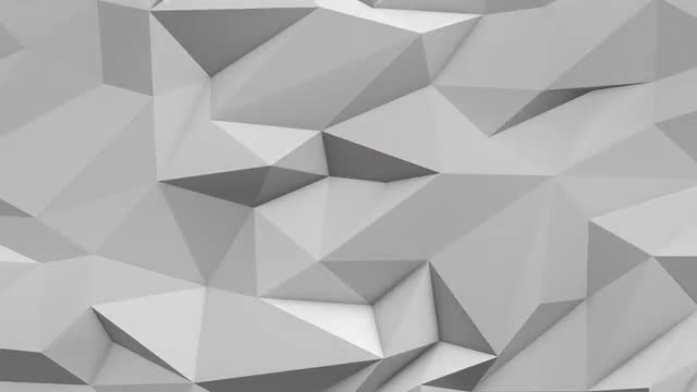 White Abstract Low Poly Background: Stock Motion Graphics