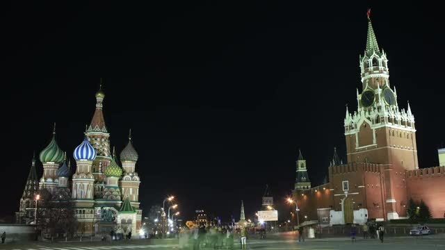 Kremlin And Red Square: Stock Video