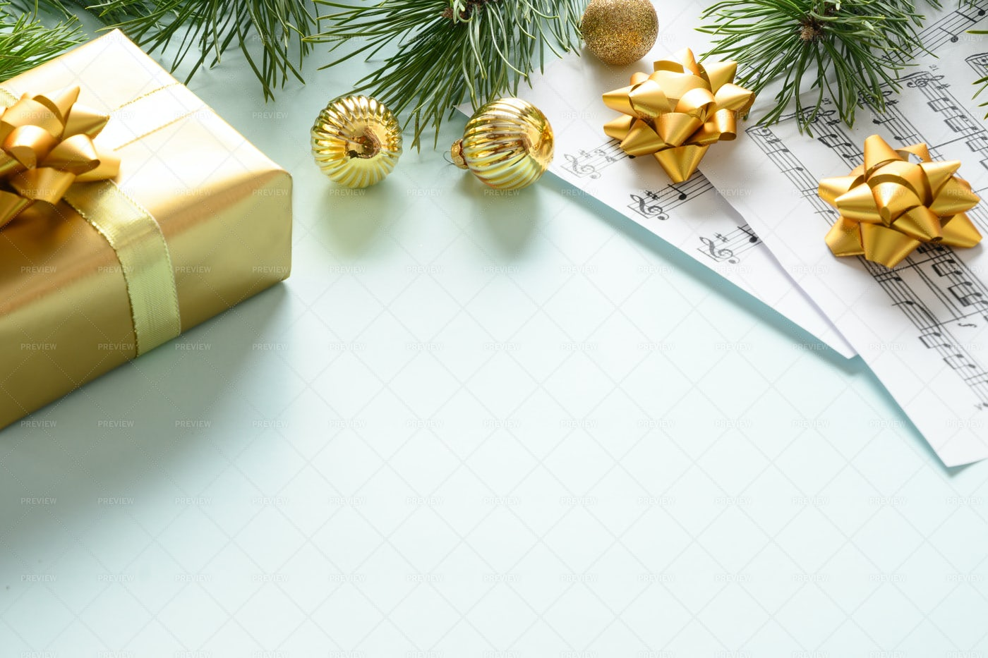 Music Sheets For Christmas Carols: Stock Photos