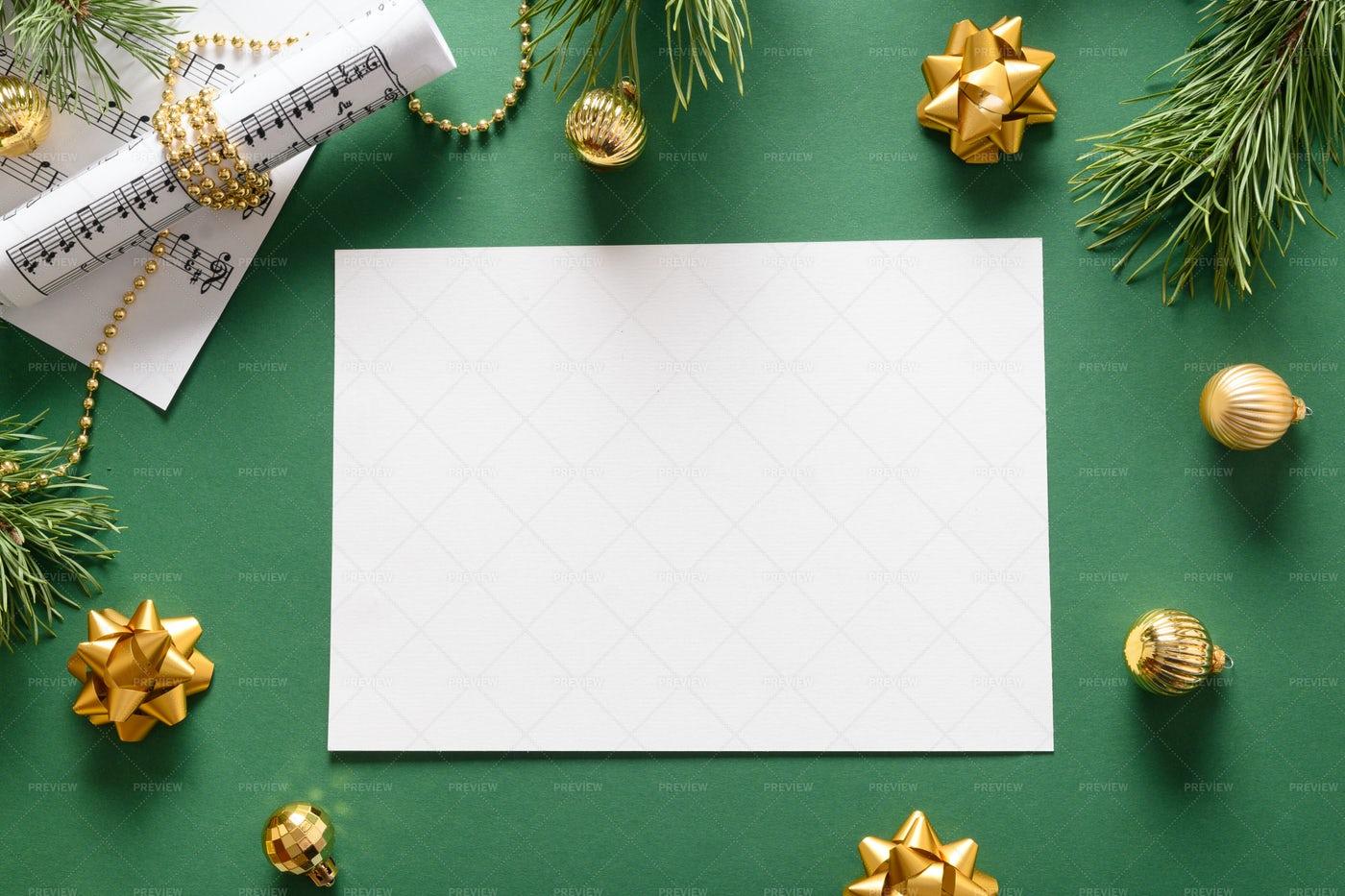Music Blank For Christmas Carols: Stock Photos
