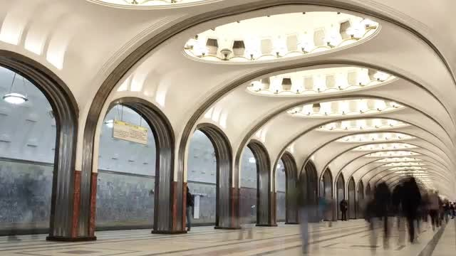 Metro Station Time Lapse: Stock Video