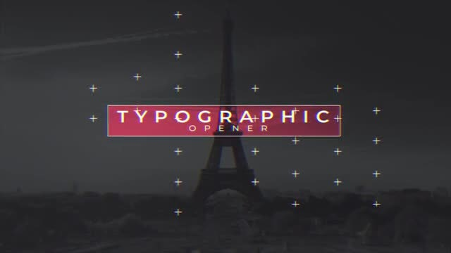 Typographic Opener: After Effects Templates
