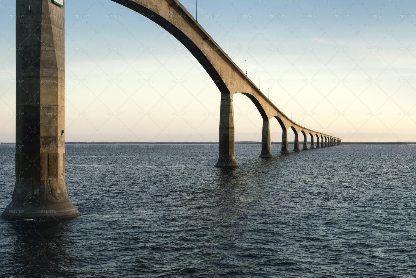Bridge Over Sunset Sky: Stock Photos