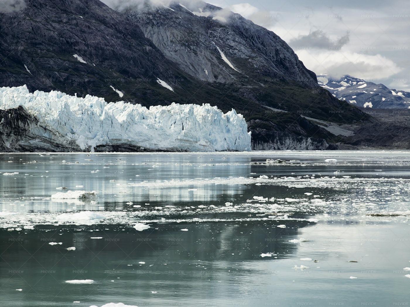 Margerie Glacier In Glacier Bay: Stock Photos