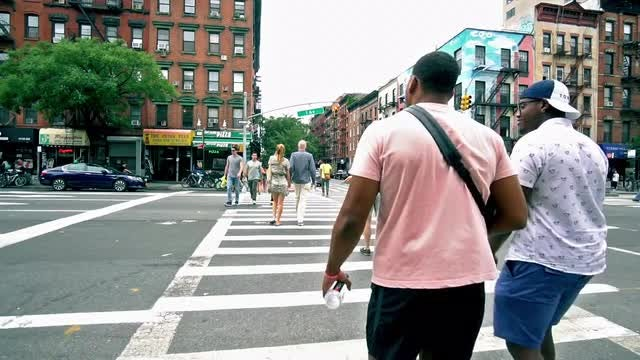 NYC People Walking In Slow Motion: Stock Video