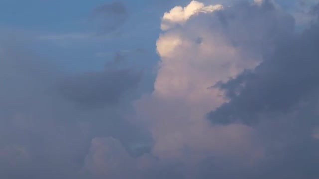 White And Grey Clouds Moving: Stock Video