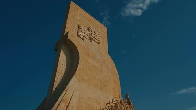 Close-up Of The Monument To The Discoveries: Stock Video