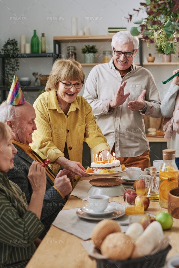 Senior People Celebrating Birthday: Stock Photos