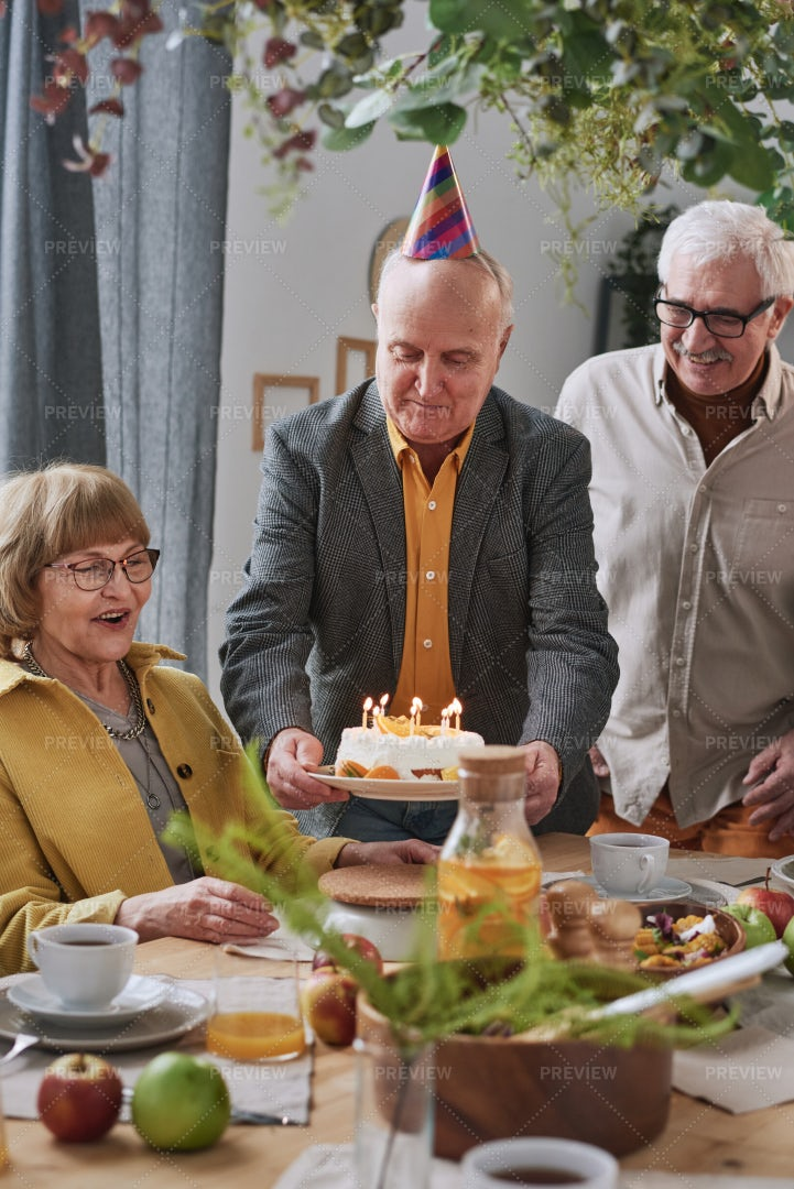 Birthday Party With Friends: Stock Photos